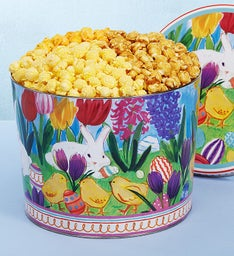 Easter in Bloom 2 Gallon Popcorn Tins