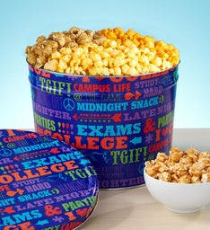 University of Snacks Popcorn Tins & Snack Assortments